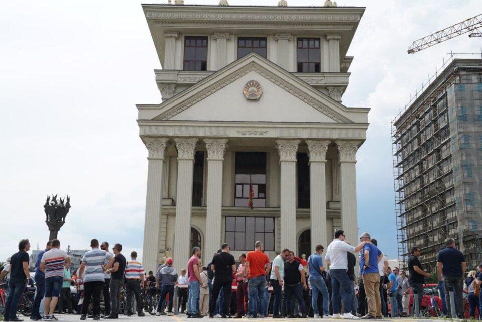 Нов протест на ВМРО-ДПМНЕ, блокада пред МНР во 17 часот