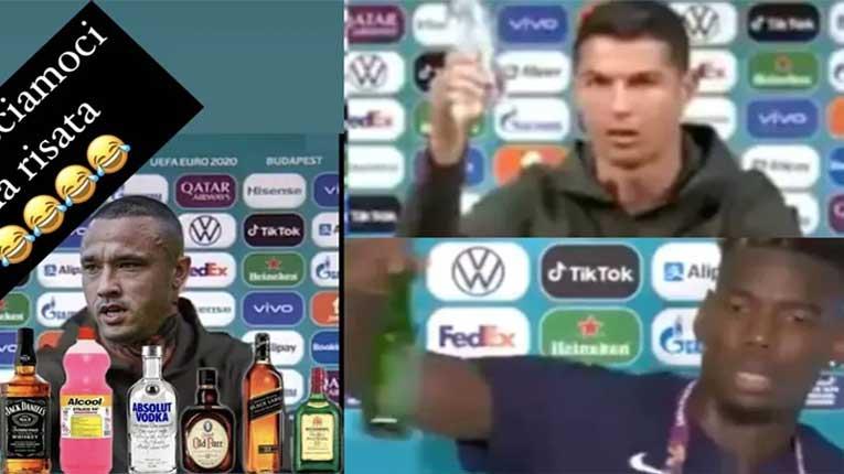 Наинголан направи пародија од поместувањето на пијалоците на Роналдо и Погба
