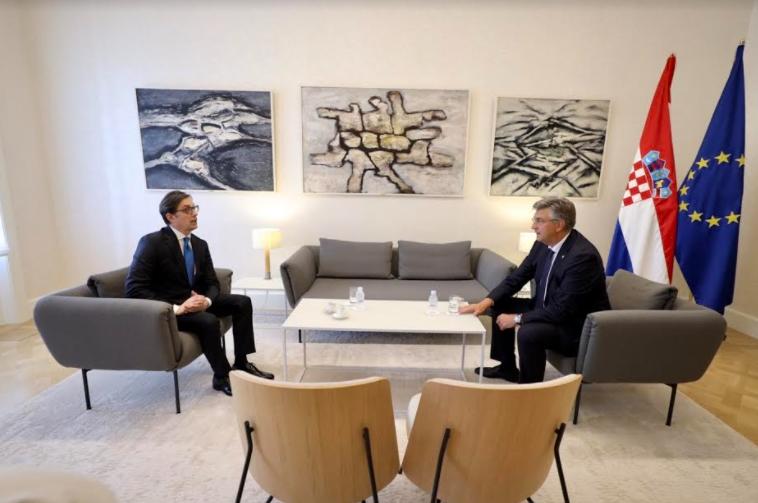 Пендаровски на средба со хрватскиот премиер Пленковиќ