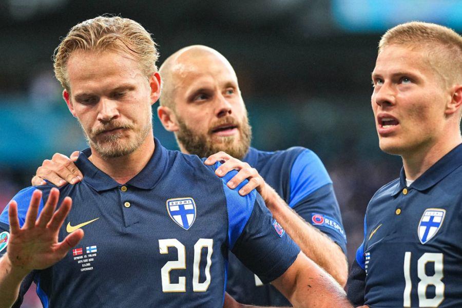 Ериксен искомуницирал со соиграчите со видео-повик, Похјанпало не го прослави историскиот гол за Финска