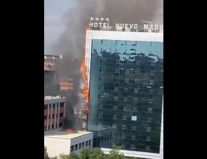 Гори хотел: Голем пожар во Мадрид (ВИДЕО)