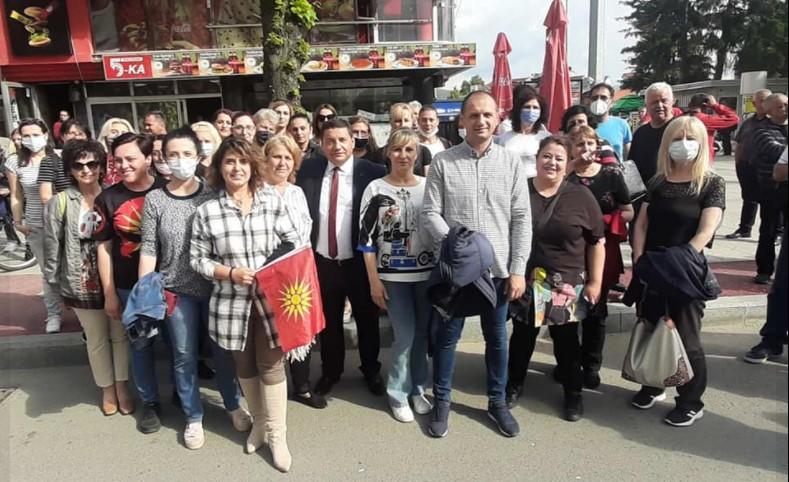 """ПРОТЕСТ: """"Прилеп против националното предавство на СДСМ и Заев"""" (ФОТО)"""