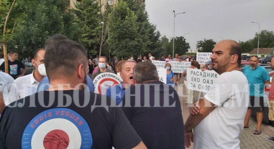 Едни бараат зеленило, други сакаат згради: Судир на протестите во Кисела Вода