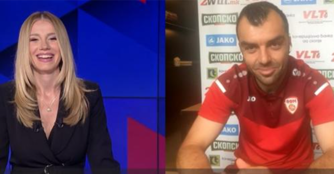 """Интервју на Пандев за """"Беин спортс"""" со Турчинка која го прашува на македонски јазик"""