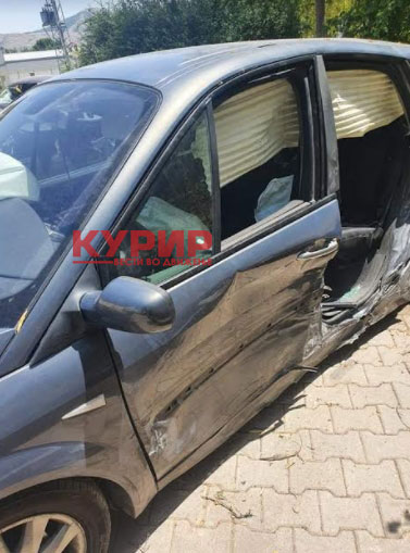 ФОТО: Двајца возачи и две деца повредени во сообраќајка во велешко