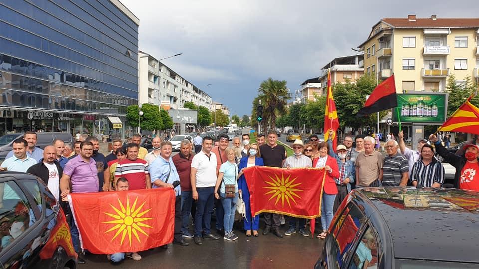 Струмичани трет ден со блокади: Дождот нема да ја спречи борбата за Македонија, нути да го измие срамот од националните предавства на Владата на СДСМ