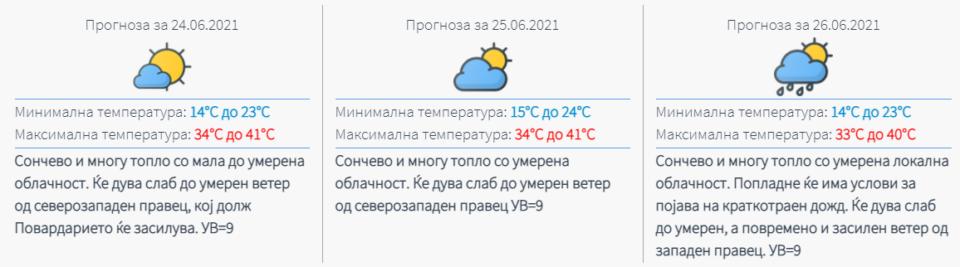 ПЕКОЛ ВО МАКЕДОНИЈА: Следуваат температури над 40 степени- еве кога ќе биде најтопло