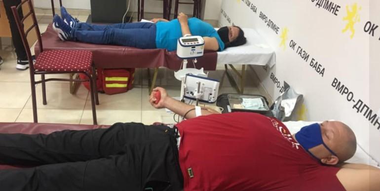 Крводарителска акција организирана од ВМРО-ДПМНЕ Гази Баба