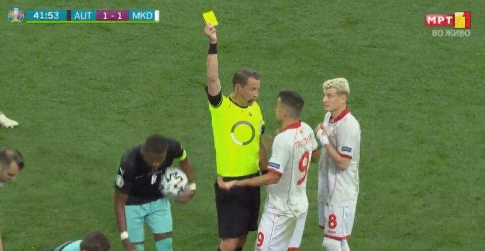 Прв жолт картон за македонски фудбалер на ЕП 2020