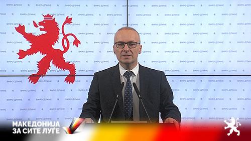 Милошоски: Со Заев и Ахмети наместо европска Македонија, станавме Колумбија во Европа