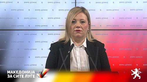 Николовска: Јовески одмолче се' за можна партиска номинација за Уставен Суд?