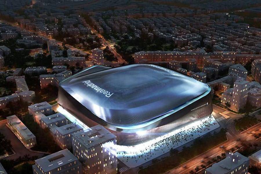 """Новиот """"Бернабеу"""" одблиску: Реал Мадрид објави кратко видео од реновираниот стадион"""