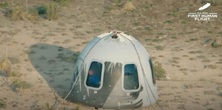 ОБЈАВЕНО ВИДЕО: Еве што правеа Џеф Безос и екипата додека беа во Вселената