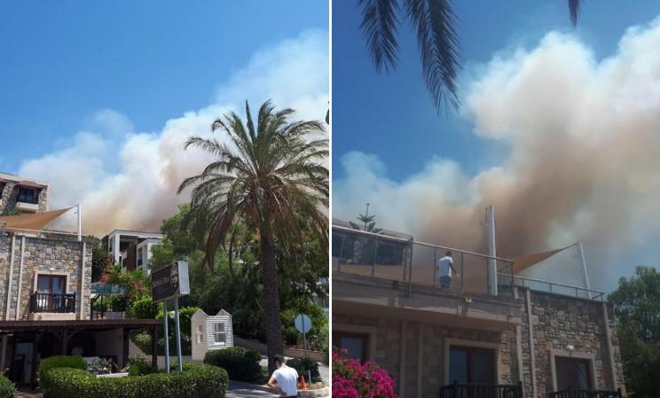 Туристи од Србија и Босна панично бегале: Пожар над хотел во Бодрум