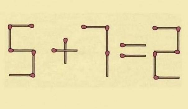 Пробајте дали ќе успеете: Треба да поместите само едно чкорче за да дојдете до точното решение