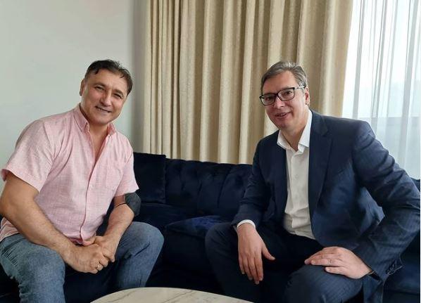 Вучиќ се сретна со Дарко Панчев во Скопје