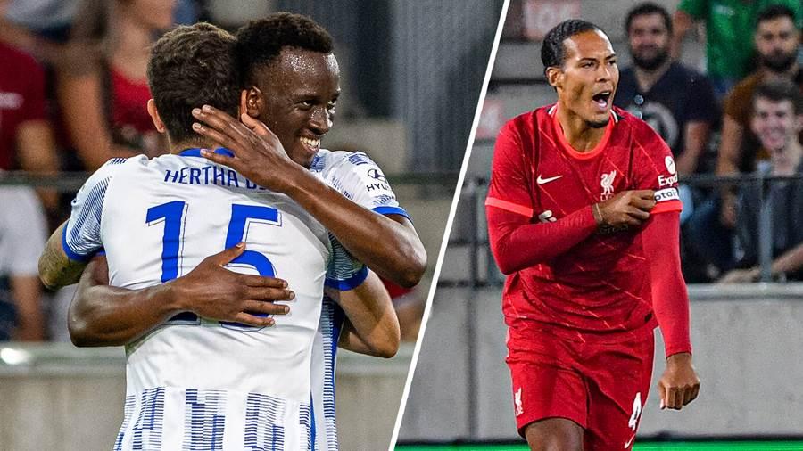 ВИДЕО: Магично деби со два гола за Јоветиќ, Херта го надигра големиот Ливерпул