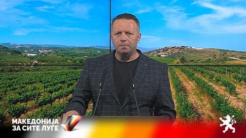 Коментар на денот – Јованчев: СДСМ и Заев веќе четврта година го уништуваат лозарството во Македонија
