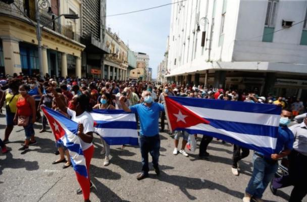 Масовни протести на Куба