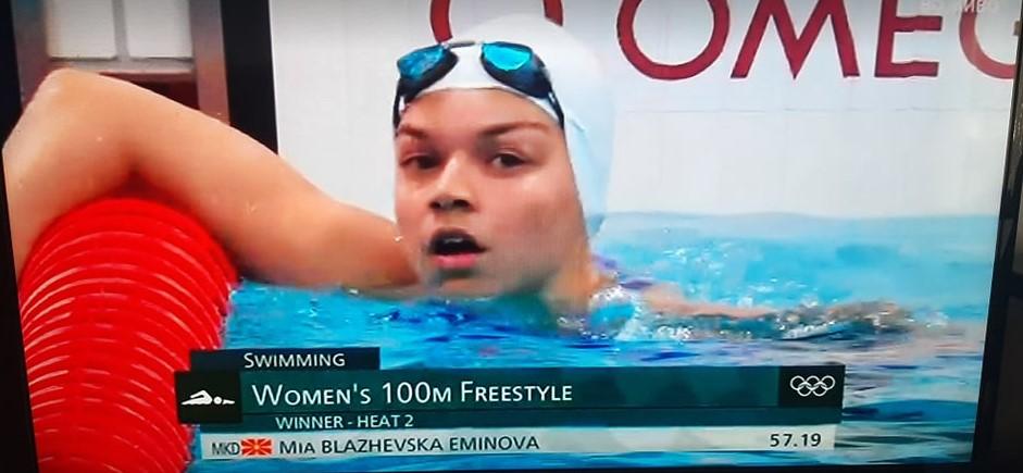 Најмладата македонска олимпијка заврши на 40-то место