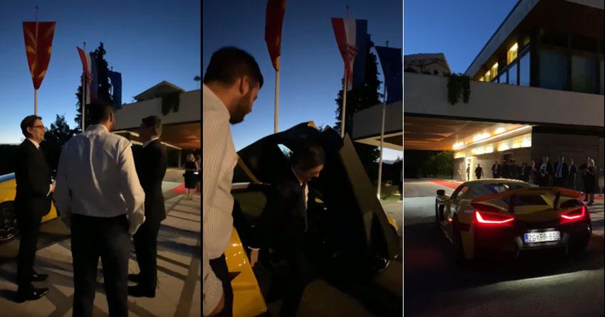 ВИДЕО: Пендаровски во Хрватска се провозе со најбрзиот електричен автомобил на свет
