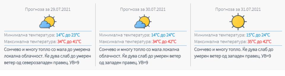 Портокалово ниво и над 40 степени во Македонија- еве од кога ќе има опаѓање на температурите