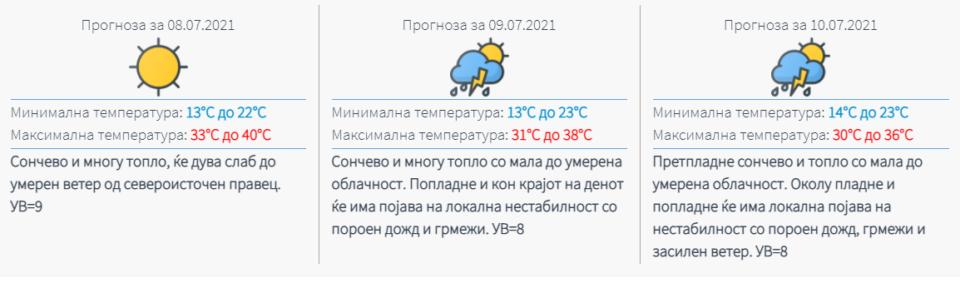 Доаѓа пеколно време, па пороен дожд и грмежи- ова е прогнозата на УХМР