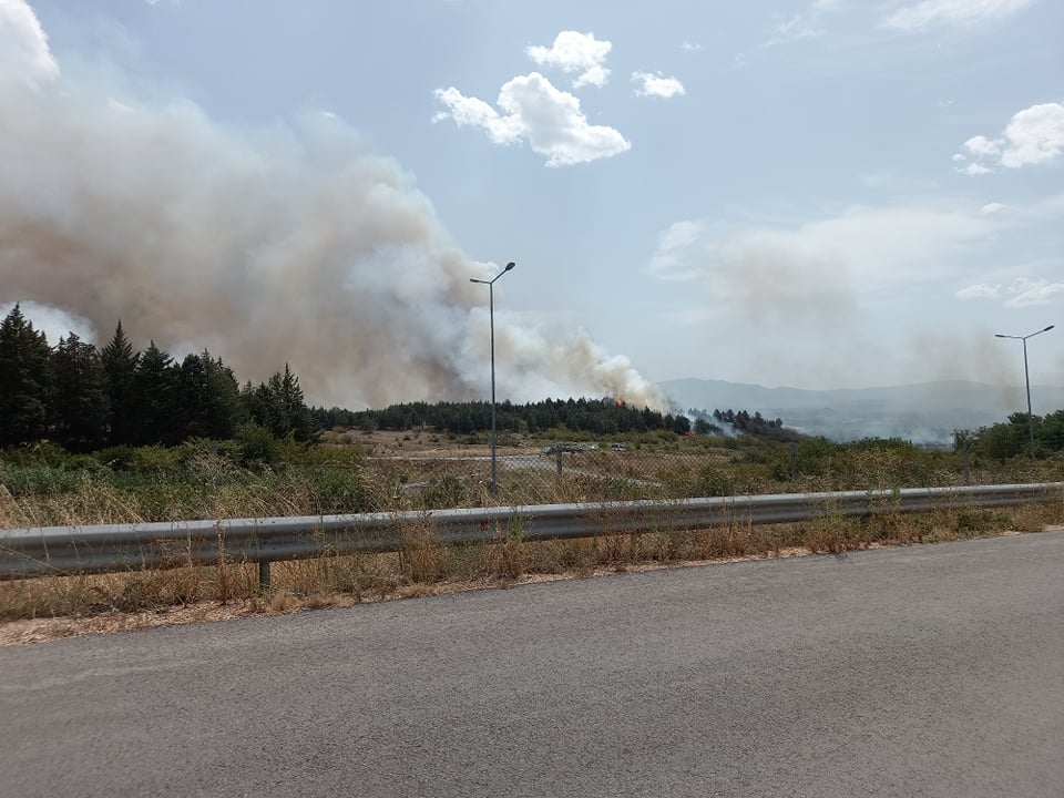 Еве каква е состојбата на граничниот премин Богородица – пожарот се шири кон грчката страна, ова се најновите детали