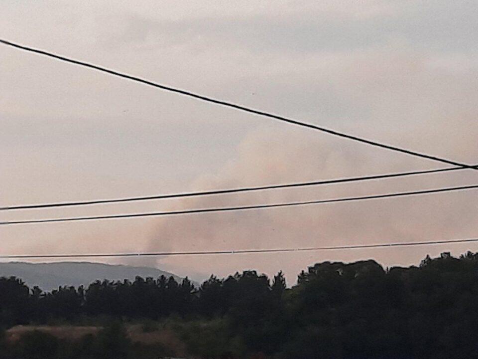 Пожарот меѓу Делчево и Пехчево се уште активен – пожарникарите со сета сила се мачат да го изгаснат огнот (ФОТО)