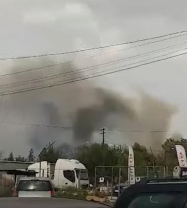 Локализиран пожарот кај Охис, сообраќајот поради безбедносни причини се пренасочува