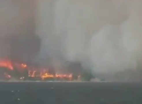 Големи пожари на островот Евија, монаси одбиваат евакуација