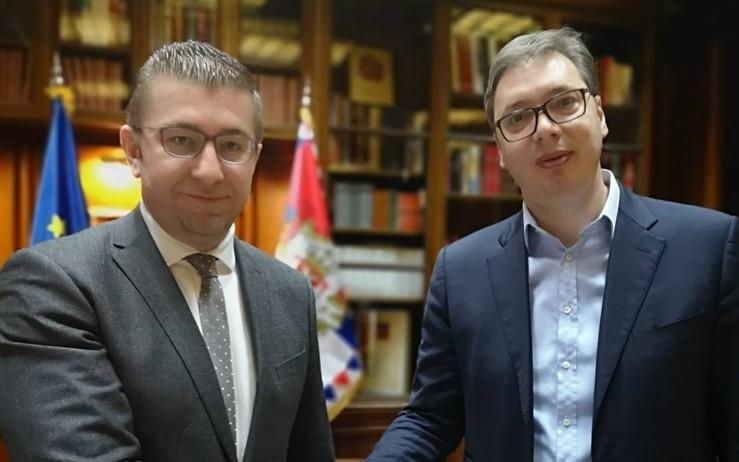 Мицкоски, Николоски и Стоилковиќ остварија средба со српскиот претседател Александар Вучиќ