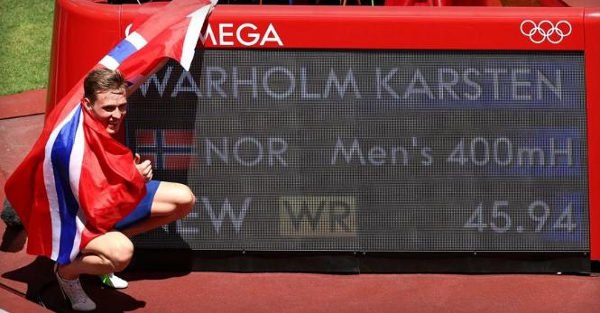 ВИДЕО: Луд светски рекорд и злато за Норвежанецот Вархолм на 400 метри со пречки