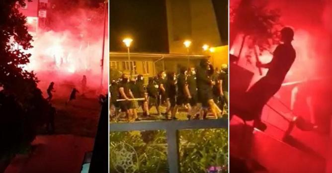 ВИДЕО: Улиците на Загреб гореа, масовна тепачка на БББ и гостите од Полска