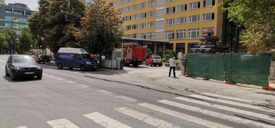 Пожар во хотел во центарот на Скопје