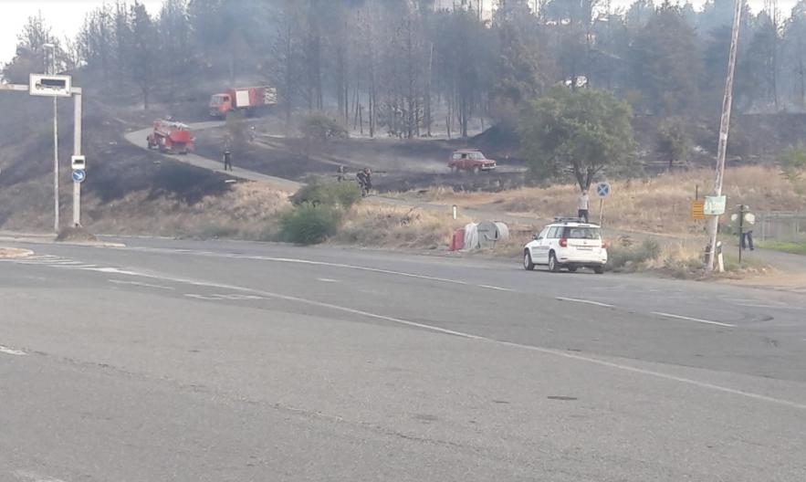 """НОВИ ДЕТАЛИ: Пожарот локализиран, ГП """"Богородица"""" отворен за сообраќај"""