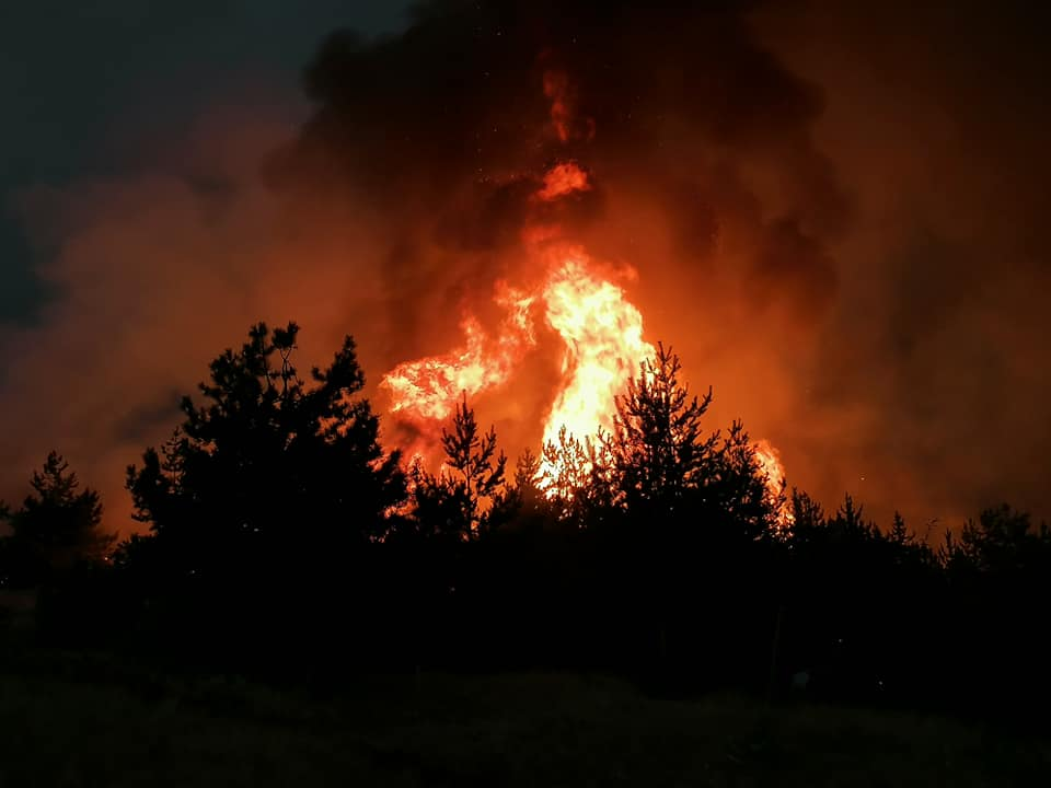 ГОРИ КАЈ ВЕЛЕС: Голем пожар беснее во близина на железничката станица