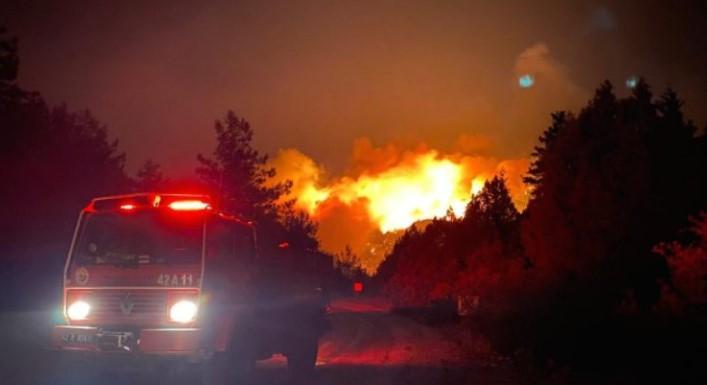 Голем пожар се приближува кон термоцентрала во Турција