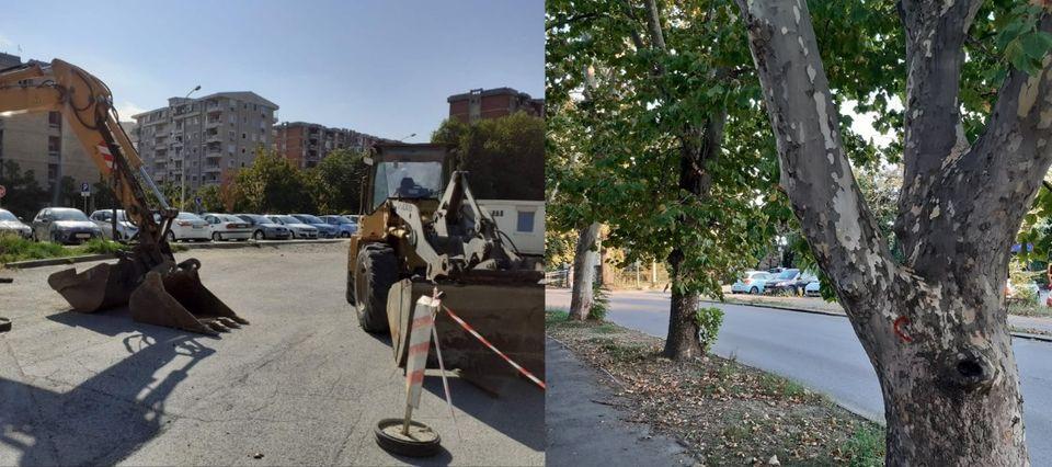 Утре протест во Аеродром: Локалната власт во заминување ветуваше зелени површини, а наместо тоа донесе бетонизација и сечење на дрвја