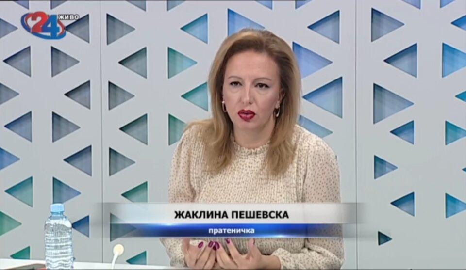 Пешевска: Од СДСМ не реагираат на нападите врз Арсовска, тоа значи дека ги поддржуваат таквите сексистички напади