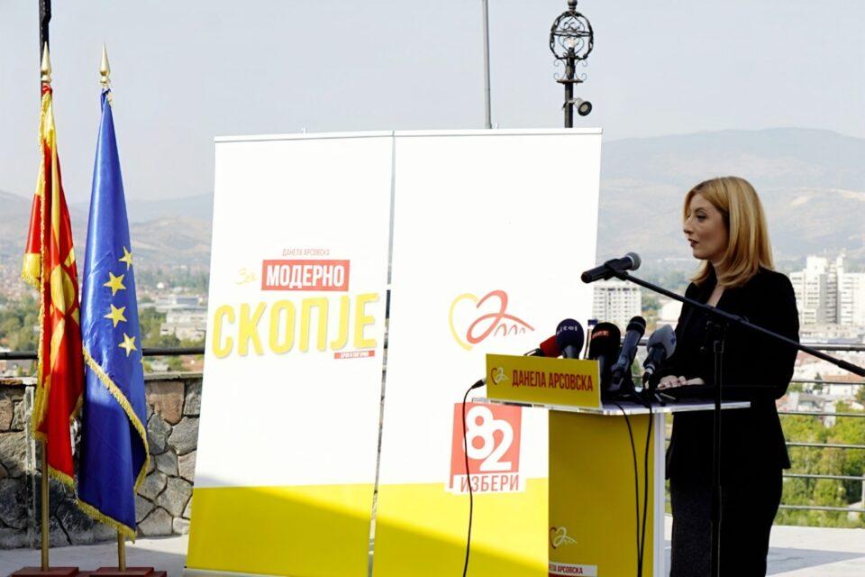 Арсовска: Скопје нема време за чекање уште четири години, да го вратиме градот на скопјани!