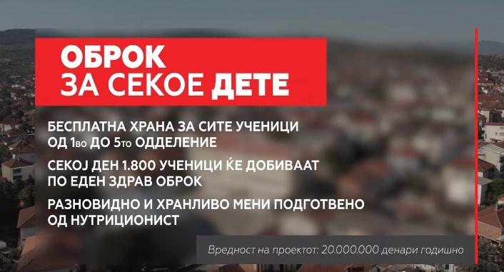 Митко Јанчев ветува бесплатен оброк за сите ученици во Кавадарци од прво до петто одделение