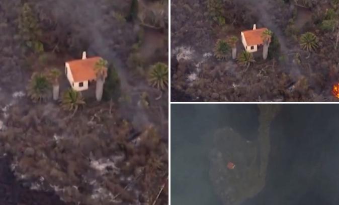 Чудо на Канарските острови: Лавата уништи се пред себе, освен една куќа (ВИДЕО)