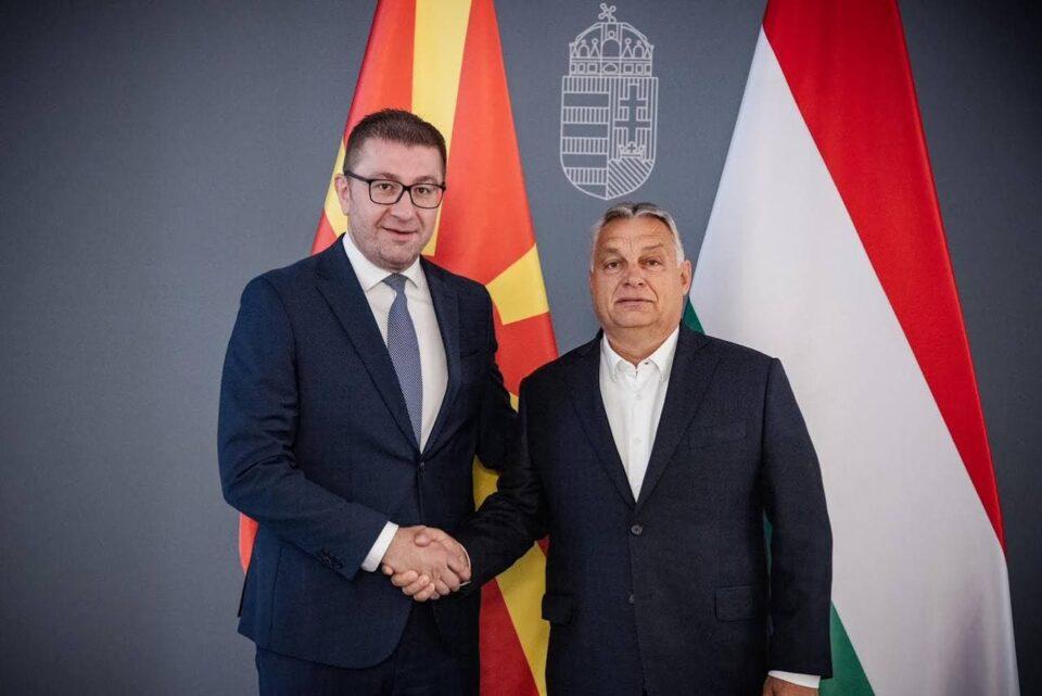 Поддршка од премиерот на Унгарија, Виктор Орбан за ВМРО-ДПМНЕ, Мицкоски и државата