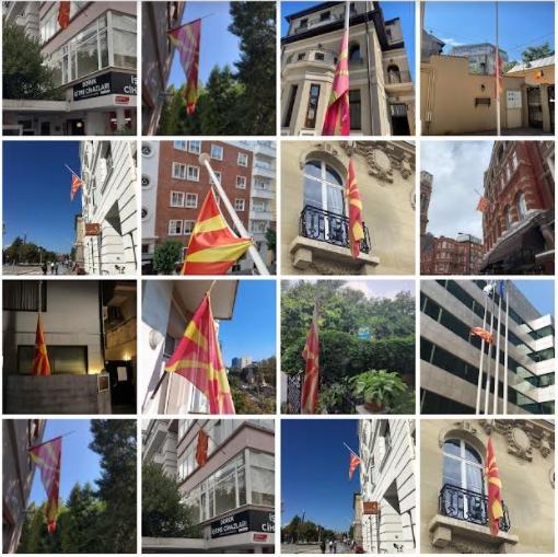 Македонско знаме во сите амбасади спуштено на половина копје