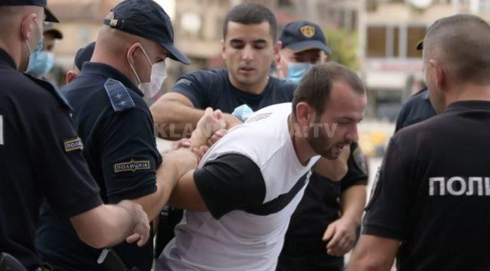 """Организаторот на протестите во Тетово беше уапсен додека давал интервју за телевизијата """"Клан Косово"""""""