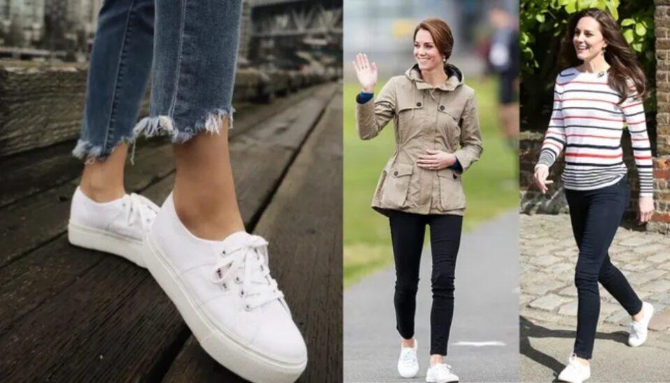 Кејт Мидлтон има свој омилен пар обувки – едноставни, бели и убави