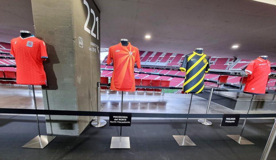 """ФОТО: Македонскиот дрес блесна на """"Ванда Метрополитано""""- стана дел од светската кампања """"Фудбал за мир"""""""