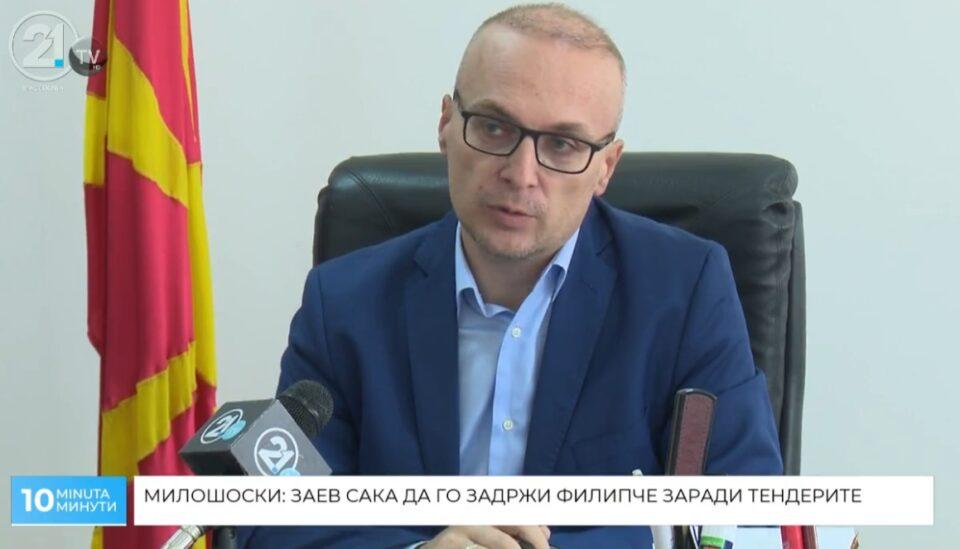 Милошоски: Заев манипулира со граѓаните и го чува Филипче за министер поради тендерите во здравство