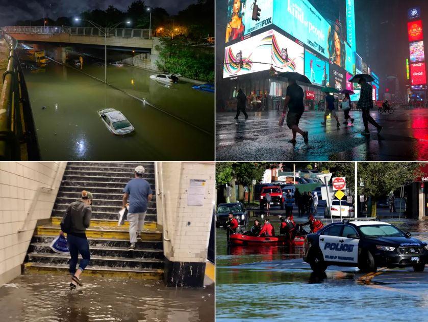 ВИДЕО: Њујорк и Њу Џерси погодени од дожд кој може да падне еднаш во 500 години, градови поплавени, најмалку 22 загинати